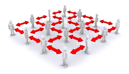 working structure, network of connected people Stock Photo - 11972985