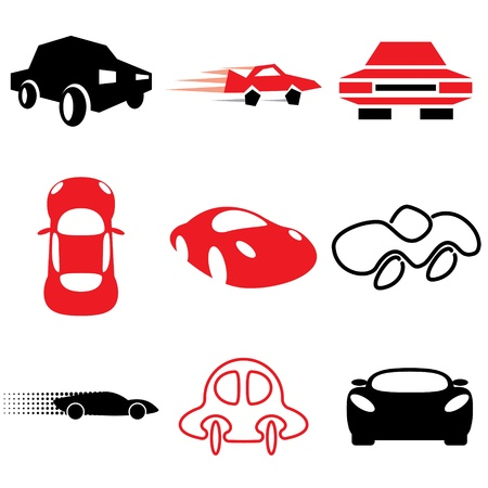 silhouette voiture: vector set d'icônes de voiture Illustration