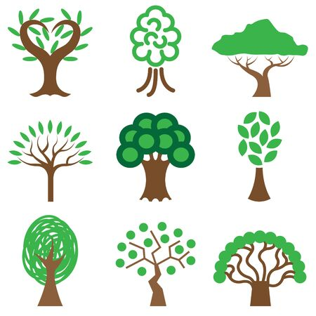 tree icons vector set  Vector