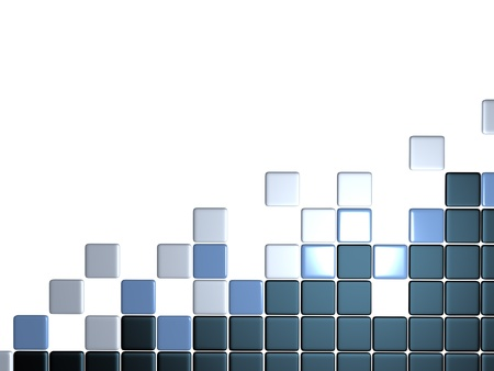 smoothed: 3d abstract levels background mosaic tile Stock Photo