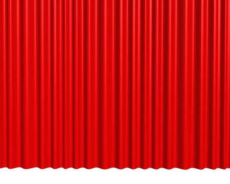 theater red curtain background Stock Photo - 12834659