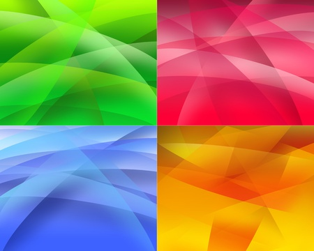 3d abstract background waves set for business photo