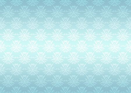 Seamless pattern wallpaper floral bright blue photo