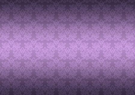 Seamless pattern wallpaper floral dark purple photo