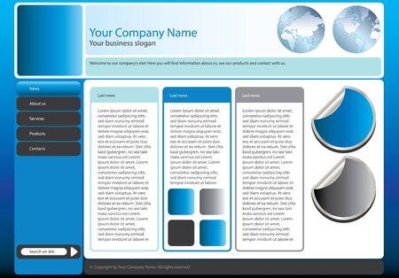 big business: Web plantilla de sitio para la compa��a de las grandes empresas