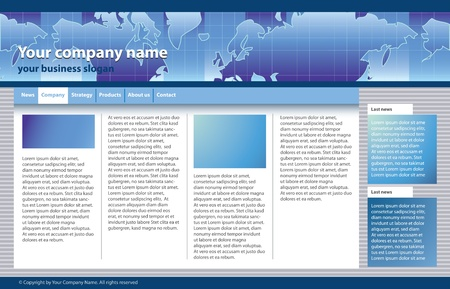 internet page site: web site template for business