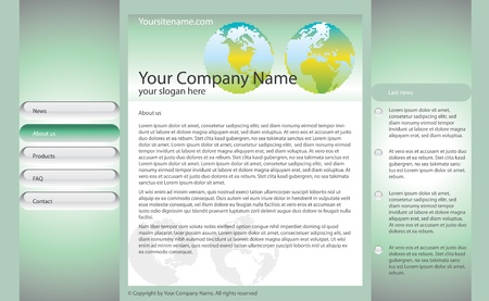 web site template for business or bank Vector