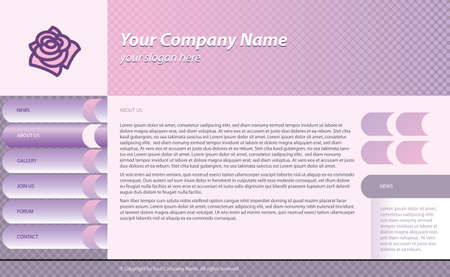 menu buttons: web site template for fashion business   or beauty salon