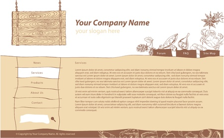 web site   template for supermarket of restaurant Vector