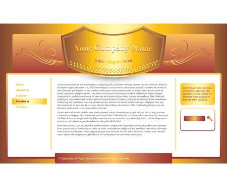 trademark: plantilla del sitio web de la marca o de la loter�a Vectores