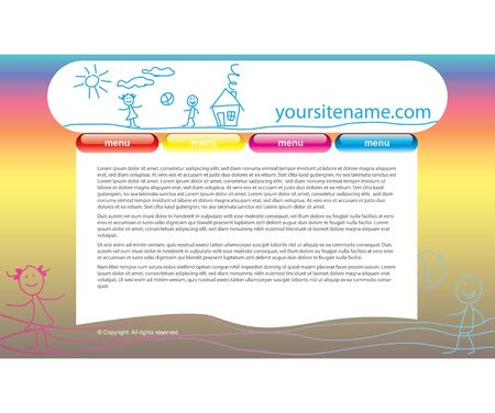 web site template Stock Vector - 12924259