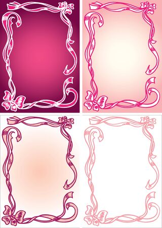 hand drawn ribbons and bows in vector Vector