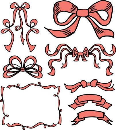 hand drawn ribbons and bows in vector Stock Vector - 12834867