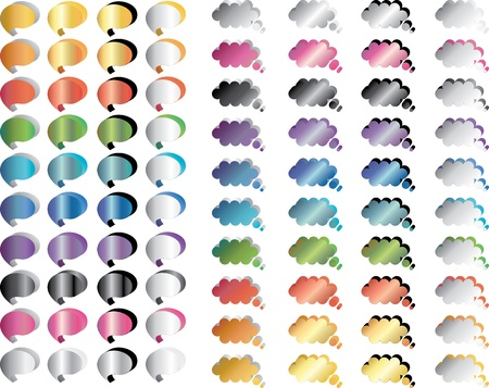chat bubbles colorful set Stock Vector - 12834983