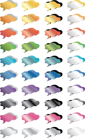 chat bubbles colorful set Vector