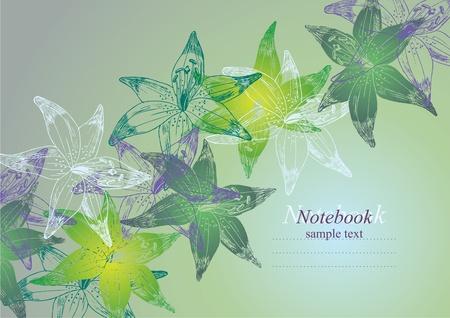flower background for postcard or notebook Vector