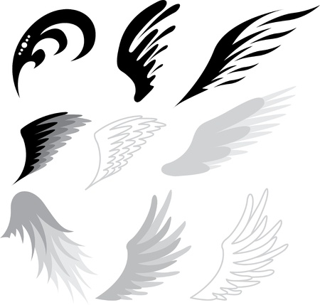 tattoo wings Stock Vector - 12834801