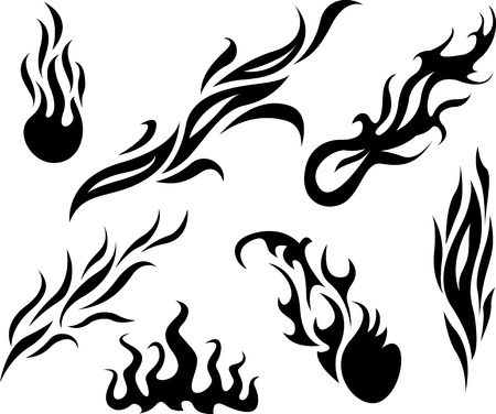 tattoo fire and flame Illustration