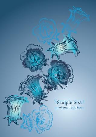 notebook cover: flower background for postcard or notebook Illustration