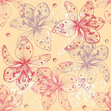 seamless flower background Stock Vector - 12834810