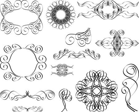 vintage monograms and swirl elements Stock Vector - 12834941