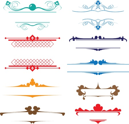antique chic: vintage monograms and headers Illustration