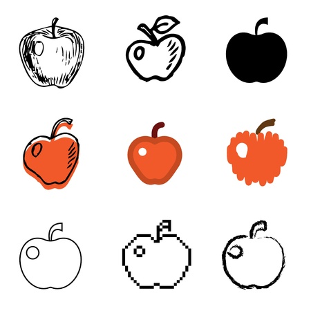 apple icons vector set Stock Vector - 12834695