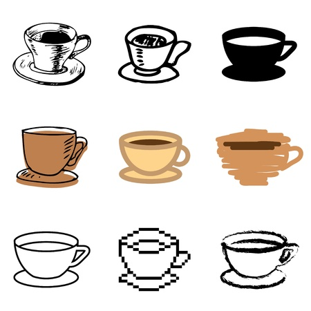 coffee cup icons vector set  Stock Vector - 12834711
