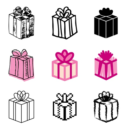 gift box icons vector set Stock Vector - 12834731