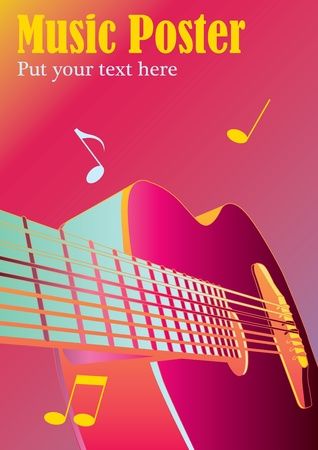 music background or poster Illustration