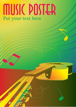 popular: music background or poster Illustration
