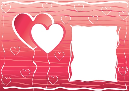 valentine s day hearts frame Vector