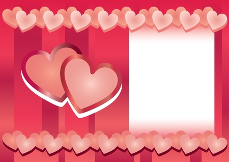 valentine s day hearts frame Stock Vector - 12924254