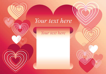 valentine s day hearts frame Stock Vector - 12924257