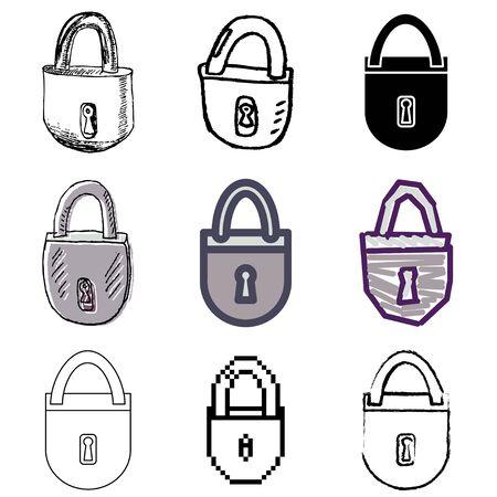 lock icons vector set Stock Vector - 12834737