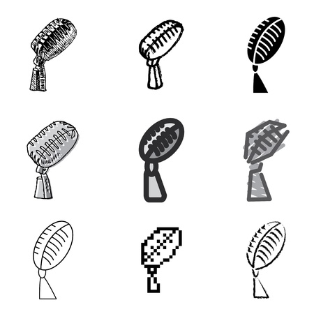 microphone icons vector set  Vector