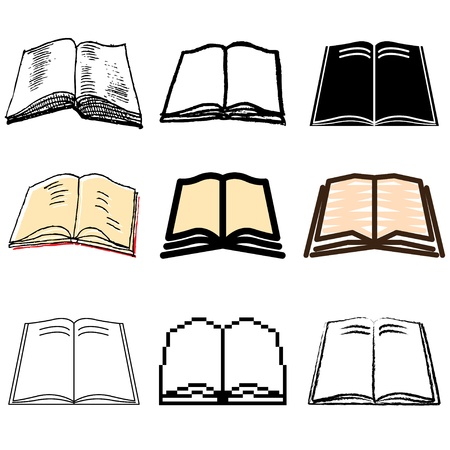 author: book icons vector set