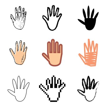hand icons vector set  Vector