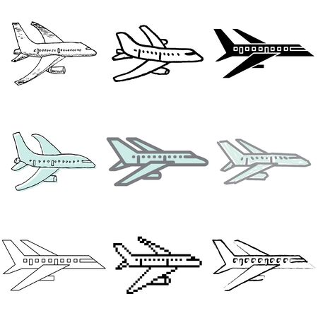 plane icons vector set Stock Vector - 12834743