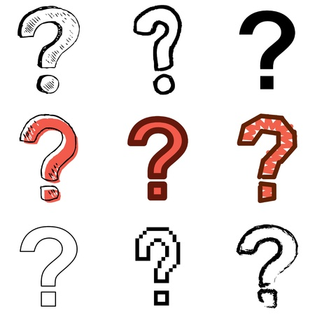 question icons vector set Stock Vector - 12834694