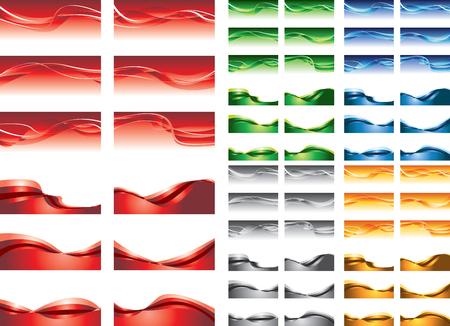 곡선: 추상적 인 배경, 다채로운 파도 일러스트