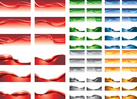 abstract backgrounds, colorful  waves Stock Vector - 12834817
