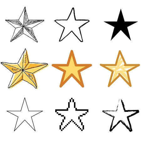 star icons vector set   Vector