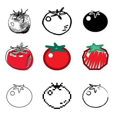 tomato icons vector set Stock Vector - 12834717