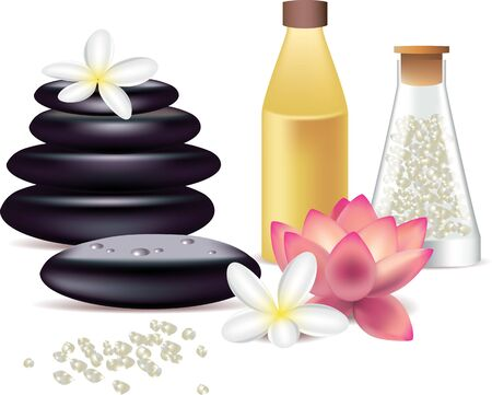 photorealistic: spa still life isolated on white photo-realistic vector illustration
