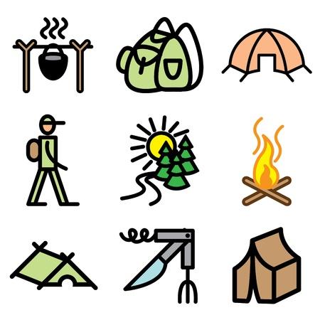 campfire: campaign icons vector set
