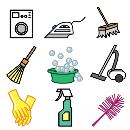 cleaning icons vector set Stock Vector - 13406456