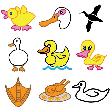 funny duck icons vector set  Stock Vector - 13406466