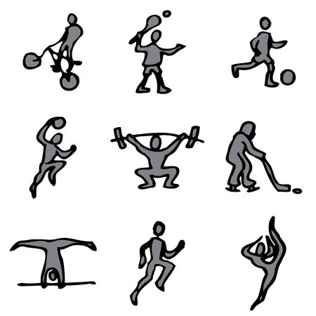 sport hand drawn icons in vector Stock Vector - 16270825