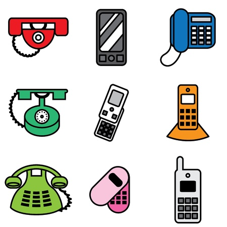 phone hand drawn icons in vector Stock Vector - 16270877